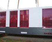 Betonstation mit Batterie und Transformator